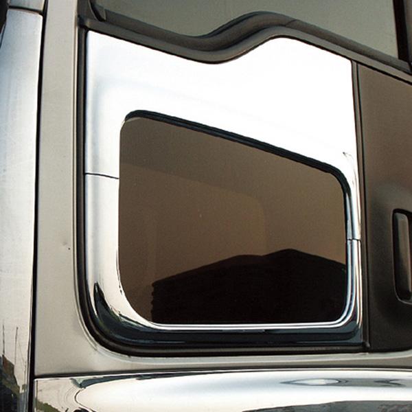 ナビウインドーガーニッシュ いすゞ フォワード(中型)/ギガ(大型) 上下分割2パーツ メッキ トラック メッキガーニッシュ/ヤック CV-401