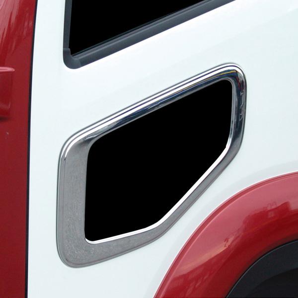ナビウインドーガーニッシュ いすゞ NEWギガ/フォワード(中型)H19.6~現在 メッキ トラック メッキガーニッシュ/ヤック CV-410