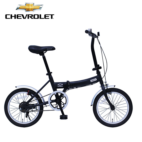 CHEVROLET/シボレー FDB16G 折りたたみ自転車 折り畳み 折畳み ブラック ミムゴ MG-CV16G