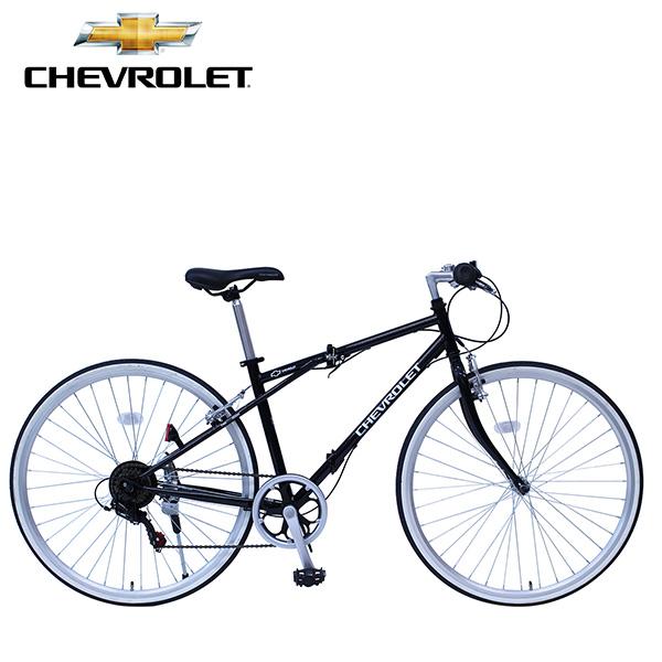 CHEVROLET/シボレー FD-CRB700C6SG 折りたたみ自転車 折り畳み 折畳み 6段変速 ブラック ミムゴ MG-CV7006G