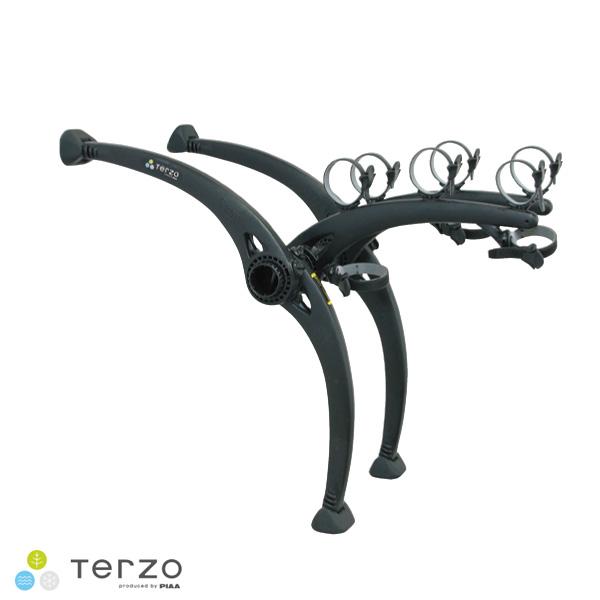 テルッツォ/Terzo/ピア/PIAA:リアキャリア サイクルキャリア REAR CYCLE CARRIER-3 リアサイクルキャリア ブラック 最大3台積載可能 EC16BK3