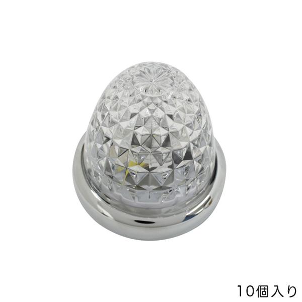 ヤック/YAC 【10個セット】マーカーランプ 流星マーカー レッド LED11個 DC24V ガラスレンズ ダイヤカット トラック CE-103