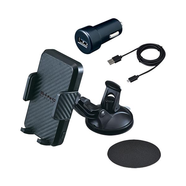 セイワ ワイヤレスチャージキューバンホルダー スマホホルダー ワイヤレス充電 吸盤取付 無線充電機能内蔵 角度調整可能 D501