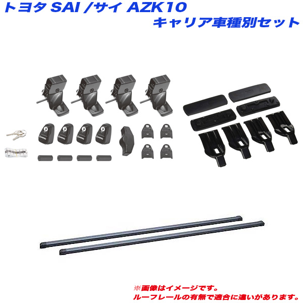 INNO/イノー キャリア車種別セット SAI AZK10 H21.1~H29.11 4ドアセダン車用 INSUT + IN-B127 + K382