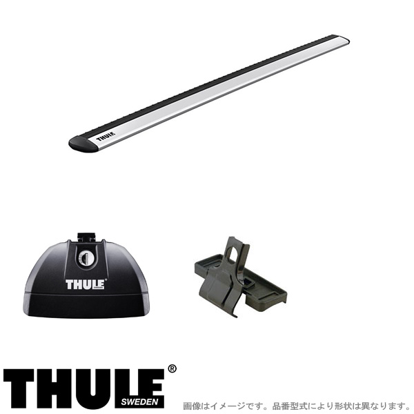 THULE/スーリー キャリア 車種別セット BMW 3シリーズツーリング (G21)ダイレクトルーフレール付 2019~ 753+7112+4023