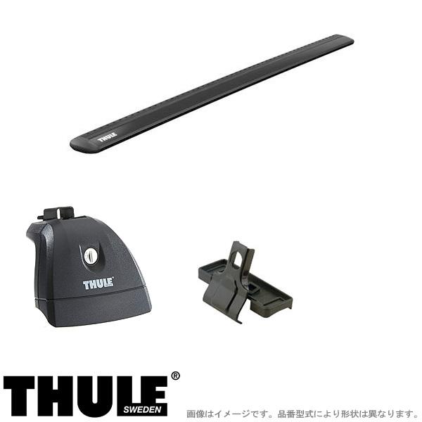 【5年保証】 THULE/スーリー キャリア 車種別セット RENAULT/ルノー ルーテシア 5ドア 2006~ RK# 751+7111B+3091