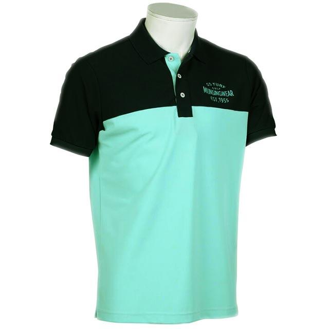 セール マンシングウェア メンズ 人気商品 ポロシャツ 半袖 グリーン ネイビー 2020年春夏新作 カラーブロック MGMPJA14 ◆高品質