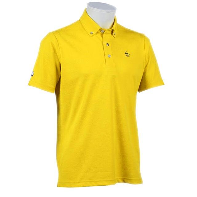 物品 セール マンシングウェア メンズ 新品未使用 半袖 ポロシャツ ジャガード 黄色 2020年春夏新作 マスタードイエロー MGMPJA17