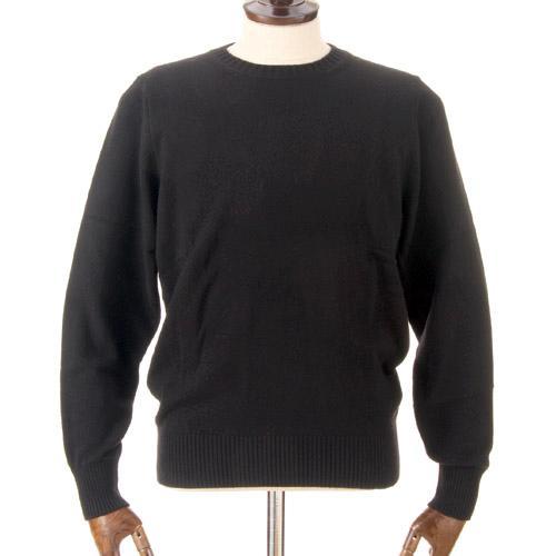 カシミヤ100%  メンズ クルーネックネックセーター ブラック 黒色 日本製 送料無料 M・L・LL クリスマスギフト好適品