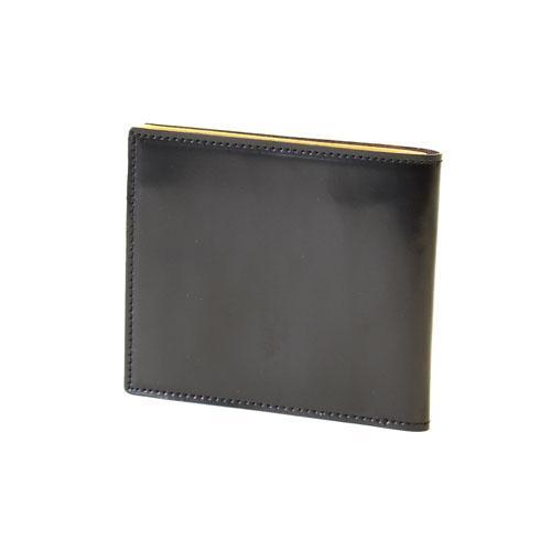 コードバン 二つ折り財布 スマートウォレット  FRUH(フリュー) ブラック 日本製  父の日ギフト好適品