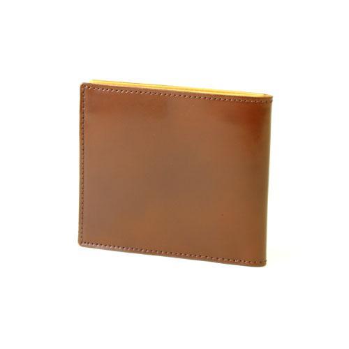 コードバン 二つ折り財布 スマートウォレット  FRUH(フリュー) ブラウン 日本製  父の日ギフト好適品