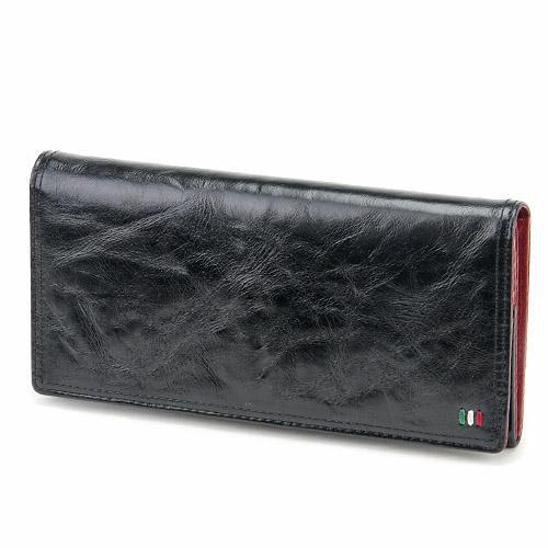 ゼウス 牛革 (人気激安) 当店は最高な サービスを提供します 長財布 イタリアンレザー 本革 好適品 プレゼント 日本製 ブラック 黒