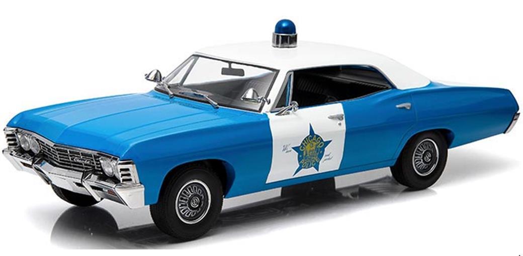 1/18 GREENLIGHT☆パトカー ハイウェイパトロール 1967 シボレー・インパラ・ビスケイン 「シカゴ警察」【予約商品】