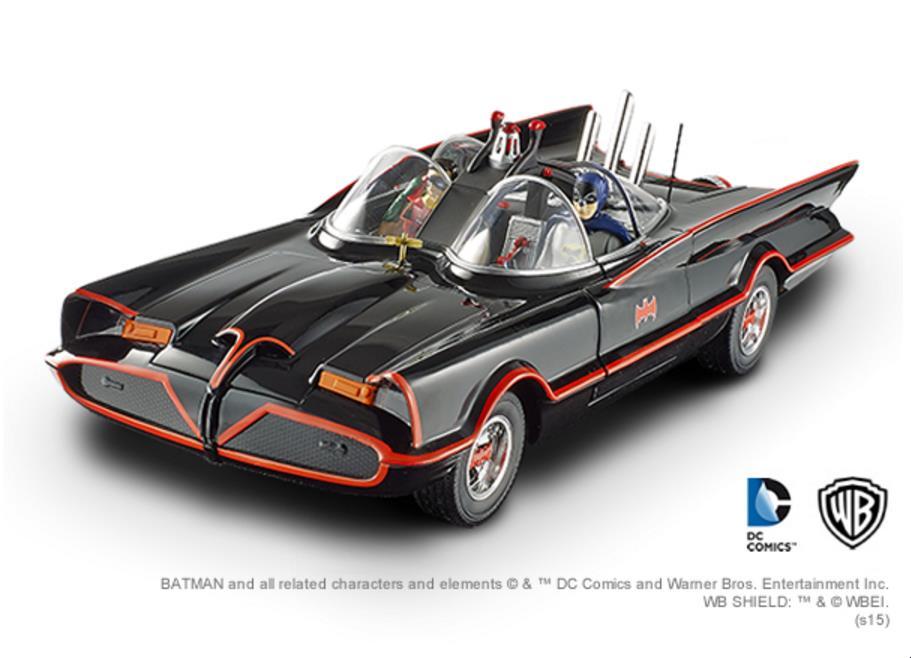 ◎HotWheels ダイキャスト ミニカー / 1/18 1966年TVシリーズ版 バットマン / バットモービル 【予約商品】