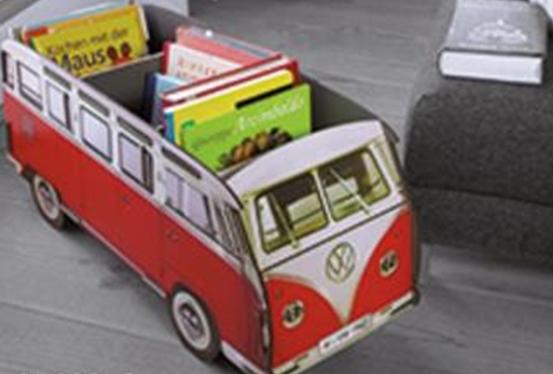 おしゃれなインテリア♪ 巨大! ワーゲンバス おもちゃ 収納♪ 赤色 フォルクスワーゲン ビートル VW おもちゃ収納やDVD収納 ゲーム収納 トミカ収納 雑誌収納などに!