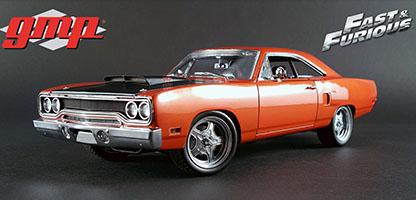 ワイルドスピードミニカー 1/18 GMP☆ワイルドスピード 1970 プリムス・ロードランナー オレンジ スカイミッション仕様【予約商品】
