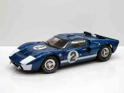 1/18 SHELBY COLLECTIBLES☆1966 フォード GT40 MK2 #2 ブルーメタ 特別限定モデル!【予約商品】