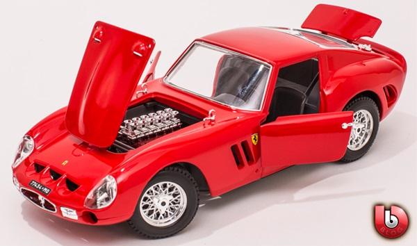 フェラーリ ミニカー■ブラゴ精密シリーズ■1/18 フェラーリ 250GTO 赤 【予約商品】ポイント5倍