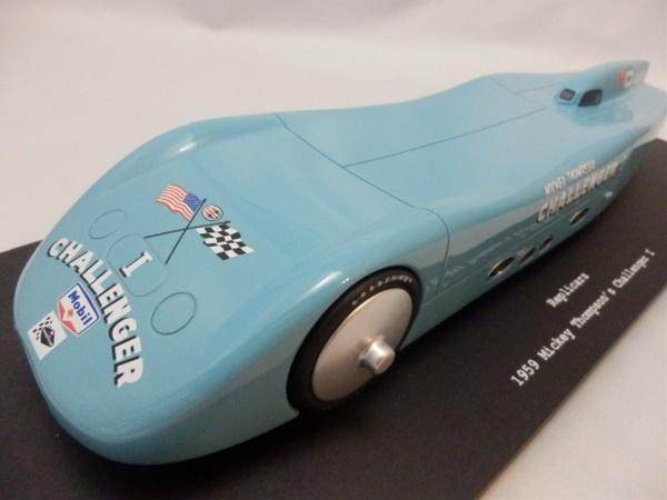 1/18 レプリカーズ☆ミッキートンプソン 1959 世界最速車チャレンジャー1号 ライトブルー 限定品!