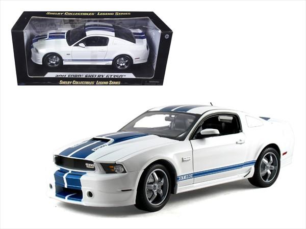 1/18 シェルビーコレクタブルズ製☆2011 シェルビーGT350 白/青 特別限定モデル! フォード・マスタング エレノア 60セカンズ 【予約商品】