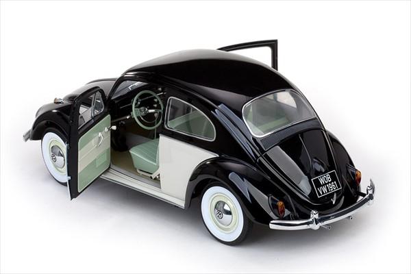 1/12 SUNSTAR☆1961 VW フォルクスワーゲン ビートル タイプ1 黒/白色 【予約商品】