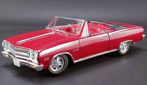 ミニカー 1/18 ACME☆1965 シボレー・シェベル Z16 マリブコンバーチブル 赤色 特別限定モデル!【予約商品】