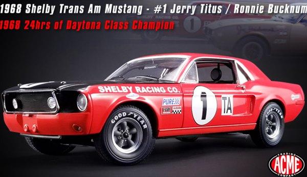 ミニカー 1/18 ACME☆1968 シェルビー Jerry Titus Shelby GT-350 702台特別限定モデル! フォード・マスタング エレノア 60セカンズ 【予約商品】
