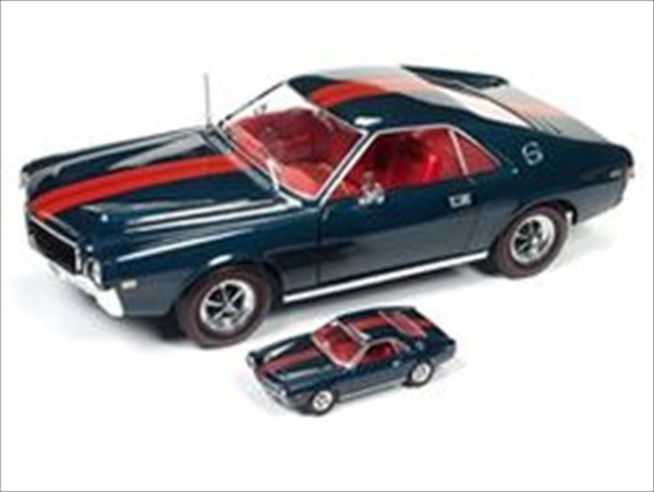 ミニカー 1/18 AUTOWORLD☆1968 1968 AMC AMX (1/64のミニカー付き♪) 50周年1002台特別限定モデル! フォード・マスタング エレノア 60セカンズ 【予約商品】