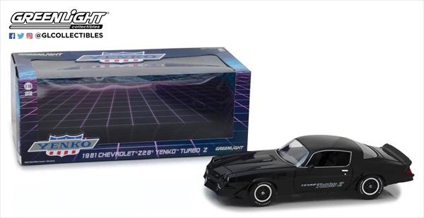 ミニカー 1/18 GREENLIGHT☆1981 シボレー カマロ Z28 Yenko Turbo Z 黒【予約商品】