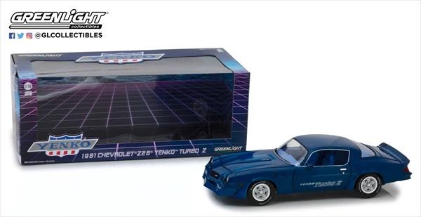 ミニカー 1/18 GREENLIGHT☆1981 シボレー カマロ Z28 Yenko Turbo Z 青【予約商品】