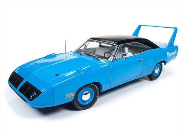 ミニカー 1/18 AUTOWORLD☆1970 プリムス・スーパーバード・ロードランナー リチャード・ペティブルー色 50周年特別モデル【予約商品】