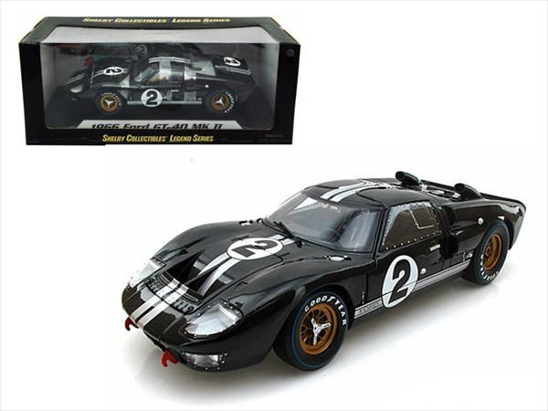 1/18 SHELBY COLLECTIBLES☆1966 フォード GT 40 MK II #2 黒色 特別限定モデル!【予約商品】