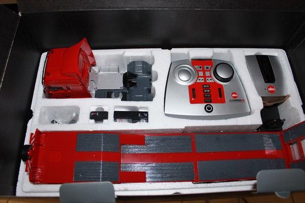 超精密ラジコン1/32Sikuラジコン積載車トレーラー赤予約商品