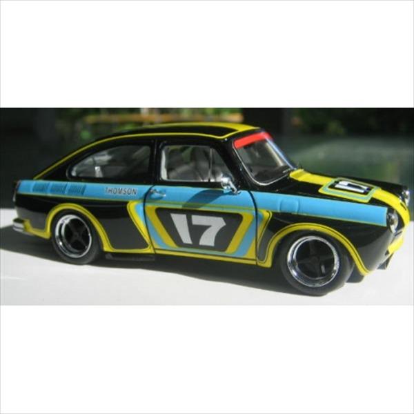 ミニカー 1/43 1970 VW フォルクスワーゲン ファーストバック #17 レース仕様 黒黄水色 限定予約商品