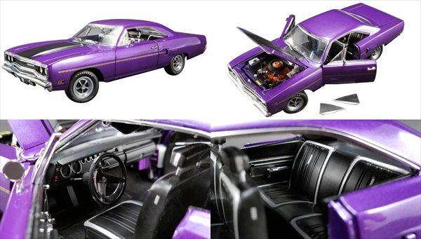 ミニカー 1/18 GMP☆Graveyard Carz 1970 プリムス・ロードランナー 紫/黒ライン【予約商品】