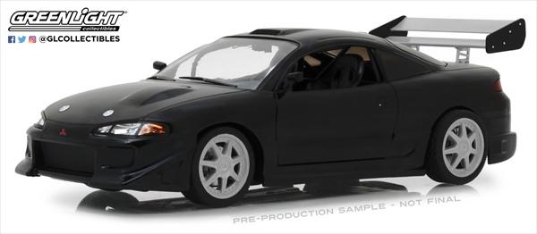 ワイルドスピードミニカー 1/18 GREENLIGHT☆ワイルドスピード 1995 三菱エクリプス 黒色 【予約商品】