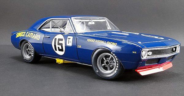 ミニカー 1/24 GMP☆1967 SUNOCO カマロ ブルー スノコレーシング #15 Mark Donohue - Sunoco Penske Racing 【予約商品】
