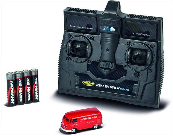 超精密ラジコン 1/87 WIKING ラジコン ワーゲンバス ポルシェサービスカー 赤   予約商品