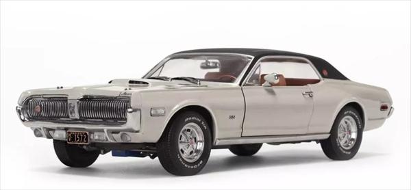 ミニカー 1/18 サンスター 豪華特別仕様 1968 マーキュリー・クーガー XR7G  白【予約商品】