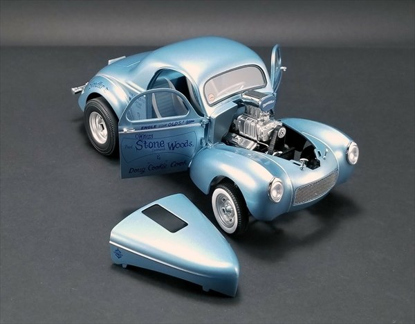 ミニカー 1/18 ACME 1941 Gasser Swindler II (Blue) - Stone Woods Cook  水色 アメリカングラフィティー デュースクーペ 546台限定品/予約商品