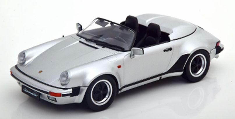Porsche ミニカー■KKSCALE■1/18 ポルシェ 1989【1500台限定予約商品】 911 911 銀色 スピードスター Speedster