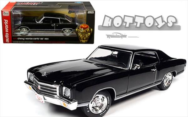 1970 黒色 Carlo SS454 AUTOWORLD☆1970 454【予約商品】  1/18 SS Chevrolet シボレー モンテカルロ ミニカー Monte