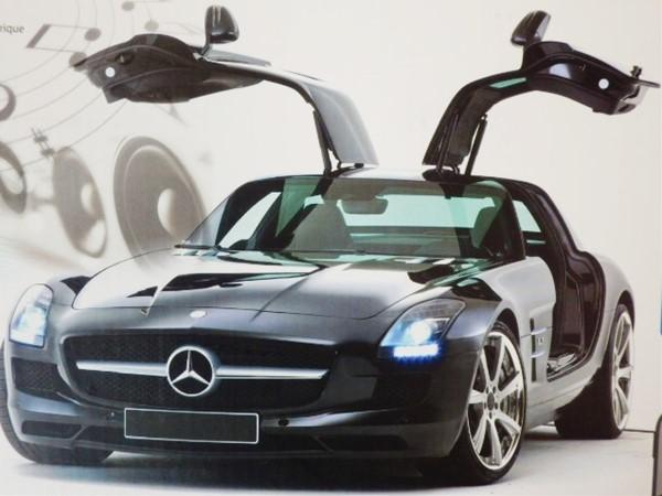 ◎超高性能ラジコン♪ ☆Mercedes Benz ベンツSLS AMG ラジコン ベンツ ウインカーLED、ドア自動作動、室内イルミネーションLED【予約商品】