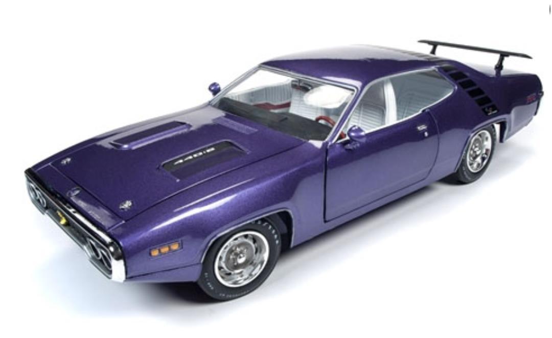 ミニカー 1/18 AUTOWORLD☆1971 プリムス・ロードランナー 紫 1971 Plymouth Road Runner GTX【予約商品】