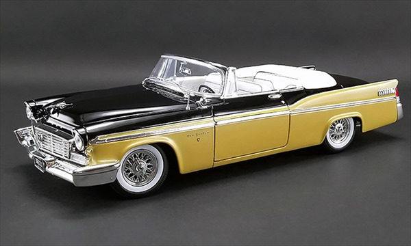 1/18 ACME☆1956 クライスラー・ニューヨーカー ゴールド/黒 1956 Chrysler New Yoker St Regis Convertible  特別限定モデル!【予約商品】