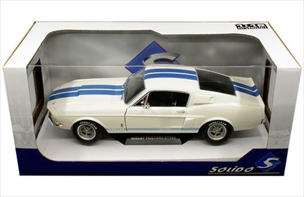 ミニカー 1/18 Solido☆1967 シェルビー・マスタング GT500 白 Shelby Mustang マスタング エレノア 60セカンズ 【予約商品】