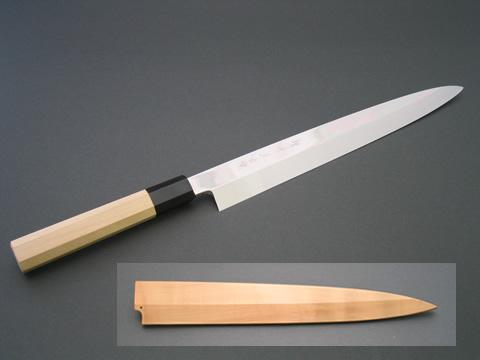 包丁 堺味正作 本焼 柳刃包丁240mm (白サヤ付き)