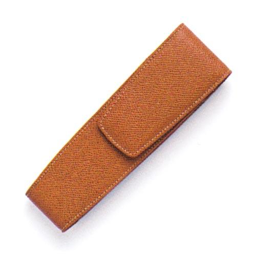FABER-CASTELL(ファーバーカステル) 2本挿しペンケース エプソムレザー ブラウン 118822