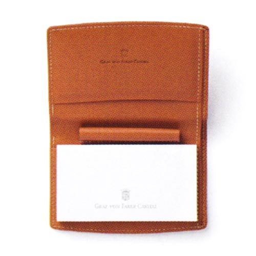 FABER-CASTELL(ファーバーカステル) ポケットペン用ペンホルダー付ノートパッド エプソムレザー ブラウン 118894