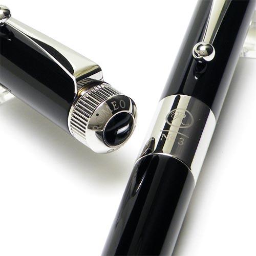 把ITO-YA(伊东屋)ROMEO(罗密欧)No.3活动铅笔太軸黑色/绿心碱RM-111名放进去,设置